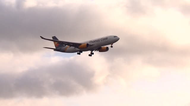 flights resuming at gatwick airport after they were previously grounded due to drone activity in restricted airspace - gatwick airport stock videos & royalty-free footage
