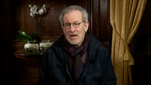 steven spielberg talks about his multioscor nominated biopic lincoln usa int steven spielberg interview sot talks of his interest in abraham lincoln... - 映画 リンカーン点の映像素材/bロール