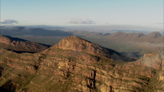 AERIAL Flinders Ranges mountains, South Australia, Australia