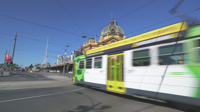 flinders st station - victoria australia stock videos & royalty-free footage