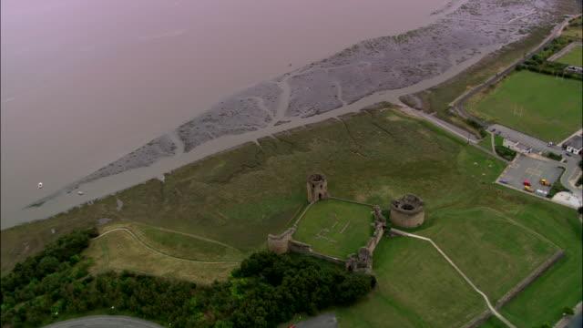 flint castle - wales stock videos & royalty-free footage