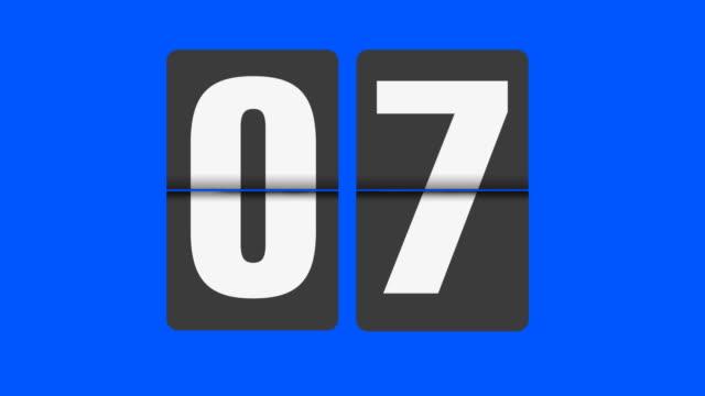 flip clock bis zu 30 sekunden in echtzeit - 30 seconds or greater stock-videos und b-roll-filmmaterial