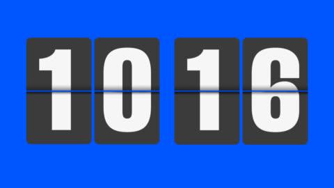 flip clock 10-11 o'clock - minute hand stock videos & royalty-free footage