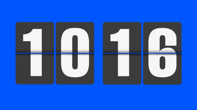 flip clock 10-11 o'clock - number 10 stock videos & royalty-free footage