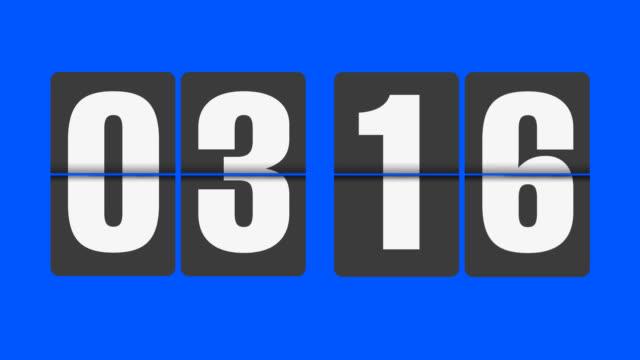 flip clock 3-4 o'clock - number 3 stock videos & royalty-free footage