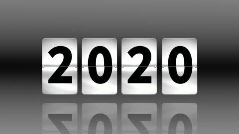 flip clock countdown. turning to 2020 - time stock videos & royalty-free footage