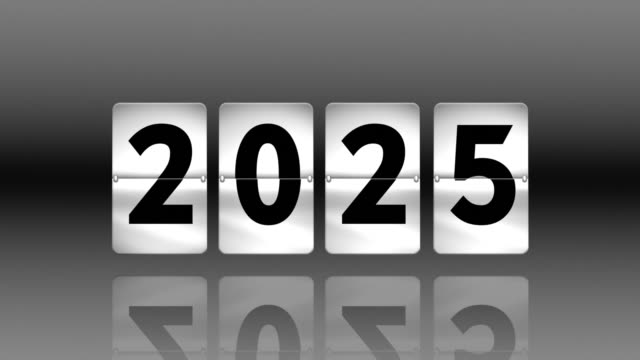 flip clock countdown. turning to 2025 - countdown stock videos & royalty-free footage