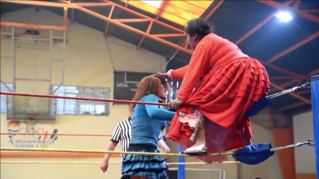 Flipping their opponents and crashing into the ropes cholitas indigenous women who wear traditional clothing put on a wrestling show each Sunday...