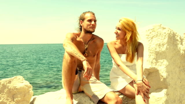 flirting at the seaside - shirtless stock videos & royalty-free footage