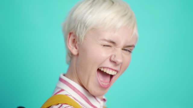 flirty beauty - short hair stock videos & royalty-free footage