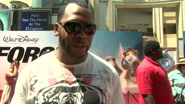 flo rida on his song in the film, being part of a disney project at the 'g-force' premiere at hollywood ca. - g force stock videos & royalty-free footage