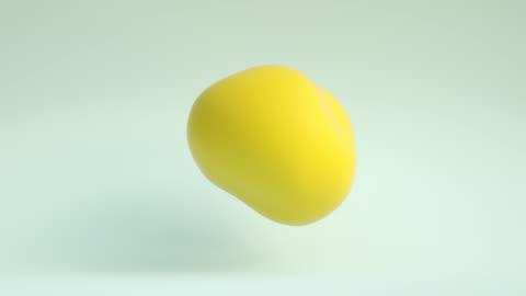 floating blob loop (yellow) - morphing stock videos & royalty-free footage
