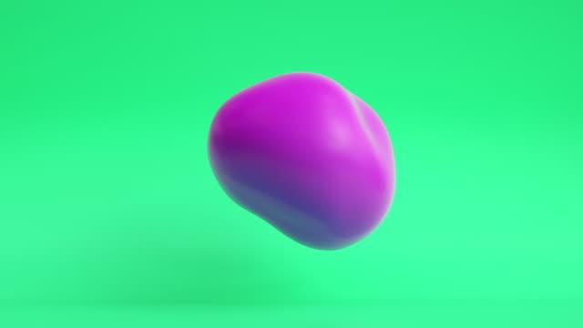 floating blob loop (green/purple) - morphing stock videos & royalty-free footage