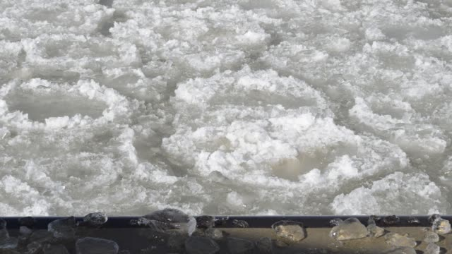 floating chunks of ice - great lakes stock videos & royalty-free footage