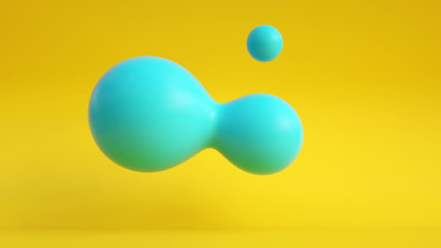 floating droplets loop (summer colors) - changing form stock videos & royalty-free footage