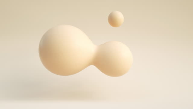 floating droplets loop (soft) - three dimensional stock videos & royalty-free footage