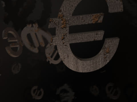 floating euro symbols - medium group of objects stock videos & royalty-free footage