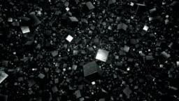 Floating Field of Metallic Debris Cubes