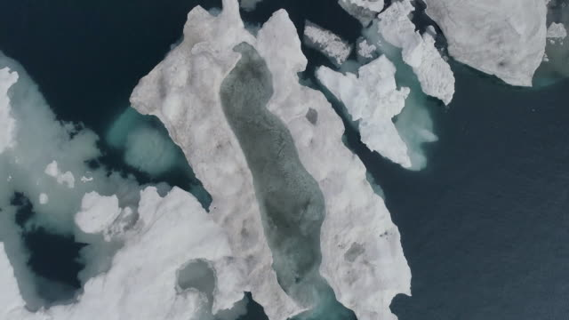stockvideo's en b-roll-footage met floating glacier in the ocean, north pole - arctis