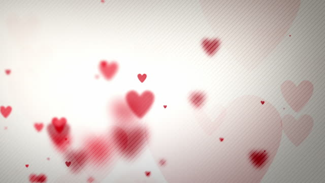 Floating Hearts Background Loop - On White Paper (Full HD)