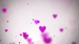 Floating Hearts Background Loop - Soft Pink (Full HD)