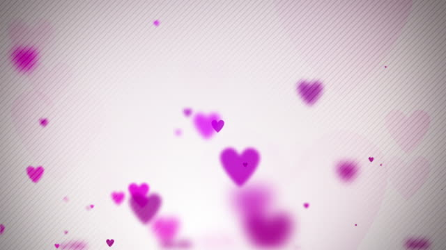 floating hearts background loop - soft pink (full hd) - pink background stock videos & royalty-free footage