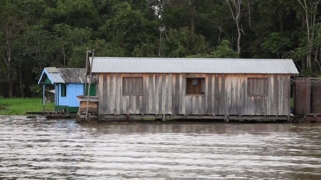 floating houses in manaus - flood stock videos & royalty-free footage