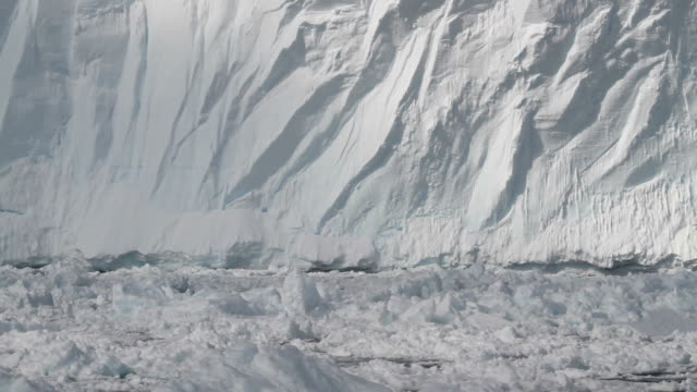 pan floating ice beneath ice shelf - polar climate stock videos and b-roll footage