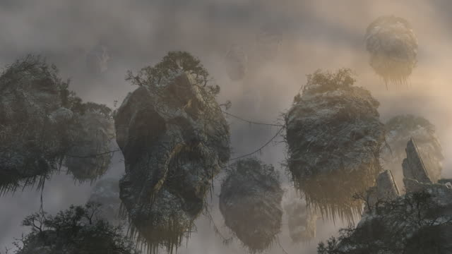 floating islands - fairytale stock videos and b-roll footage