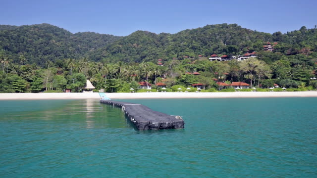 floating jetty pier, in kantiang bay and pimalai, ko lanta, thailand - ko lanta stock videos & royalty-free footage
