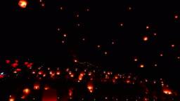 Floating lanterns in Yee Peng Festival, Loy Krathong celebration
