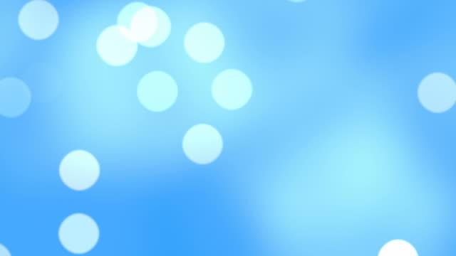 Schwimmende Endlos wiederholbar Partikel mit verschwommen hellen Hintergrund in FullHD.
