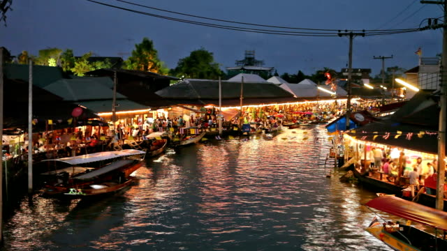 floating market - floating on water stock videos & royalty-free footage