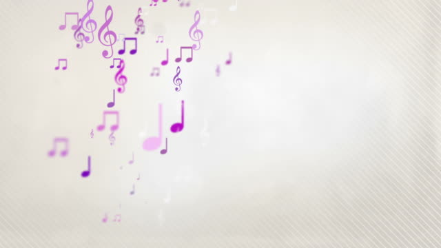 floating musical notes - pink (full hd) - musical note stock videos & royalty-free footage