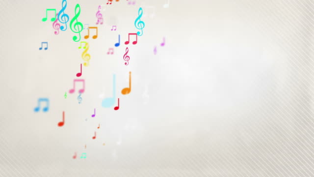 floating musical notes - rainbow (full hd) - circus stock videos & royalty-free footage