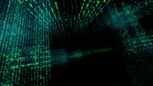 vídeos de stock e filmes b-roll de flutuante números e tecnologia - proporção áurea