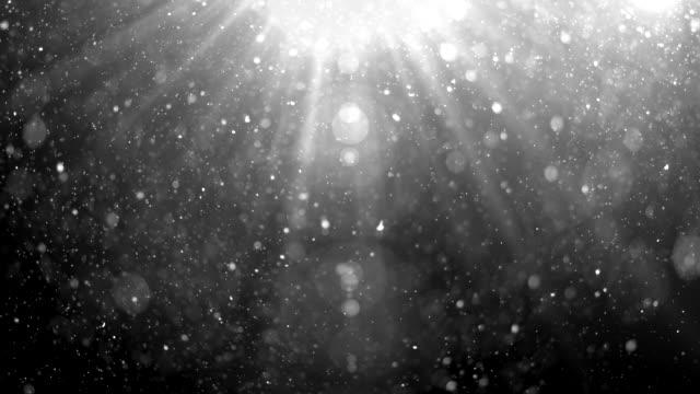 vidéos et rushes de fond de particules flottantes. 4 k - faisceau de lumière