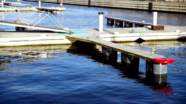floating pier for boats - pontoon bridge stock videos and b-roll footage