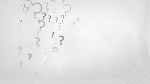floating question marks background loop - charcoal grey hd - question mark stock videos & royalty-free footage