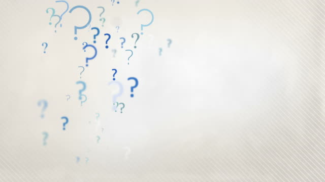 floating question marks background loop - pastel blue hd - question mark stock videos & royalty-free footage