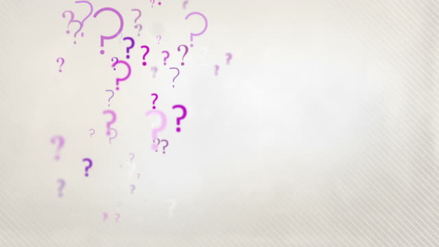 floating question marks background loop - pastel pink hd - question mark stock videos & royalty-free footage