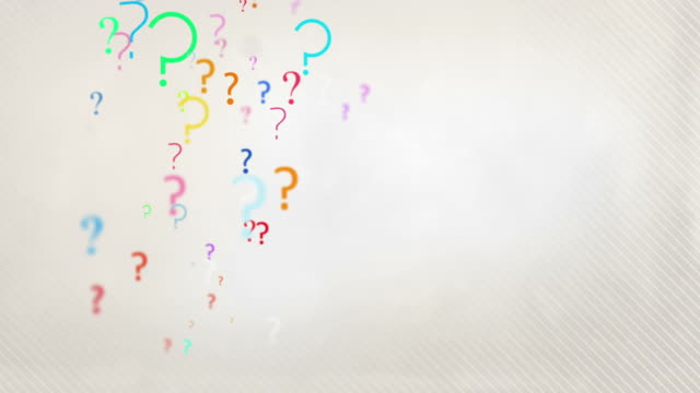 floating question marks background loop - pastel rainbow hd - question mark stock videos & royalty-free footage