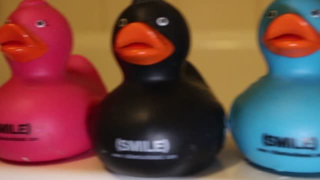floating rubber ducks in a bathtub with water so so many rubber ducks many colors floating and interacting various views - household fixture stock videos and b-roll footage