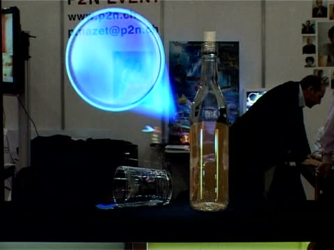 floating spheres revolving beds and a nifty bottle opener and pourer this year's inventors fair in geneva is living up to its weird and wonderful... - bottle opener stock videos & royalty-free footage
