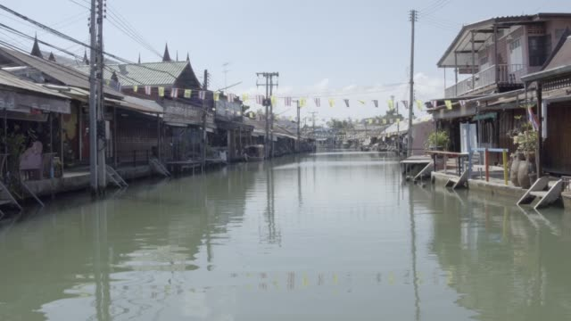 floating village in bangkok, thailand - anchored stock videos & royalty-free footage
