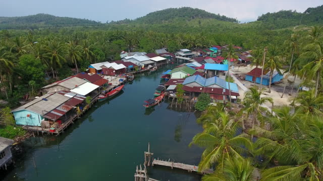 floating village on koh rong island, cambodia - cambodia stock videos & royalty-free footage