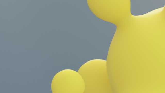 floating yellow droplets loop - morphing stock videos & royalty-free footage