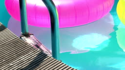 Floats in a pool