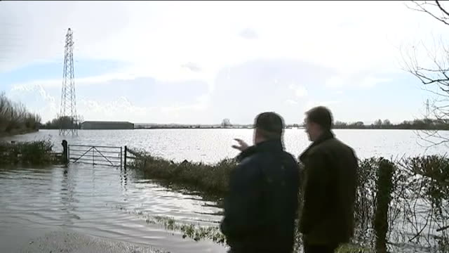 flood hit farmers to be able to access grants england somerset high angle view flooded countryside fields and houses in somerset levels with blue sky... - somerset levels stock videos and b-roll footage