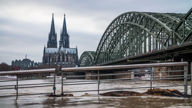 flood in cologne, germany - germany stock videos & royalty-free footage